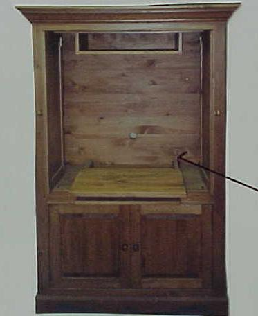 Pocket Door Armoire For Tv/vcr And Stereo